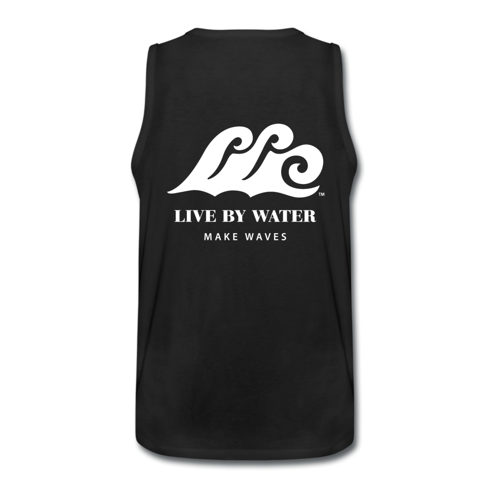 Beach Life-Make Waves 2-sided Men's Tank - black
