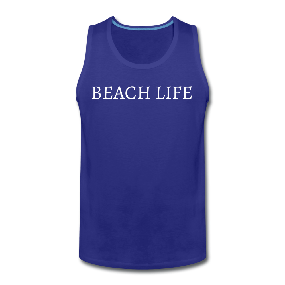 Beach Life-Make Waves 2-sided Men's Tank - royal blue