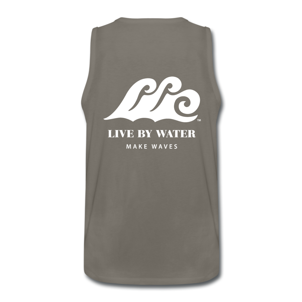 Beach Life-Make Waves 2-sided Men's Tank - asphalt gray