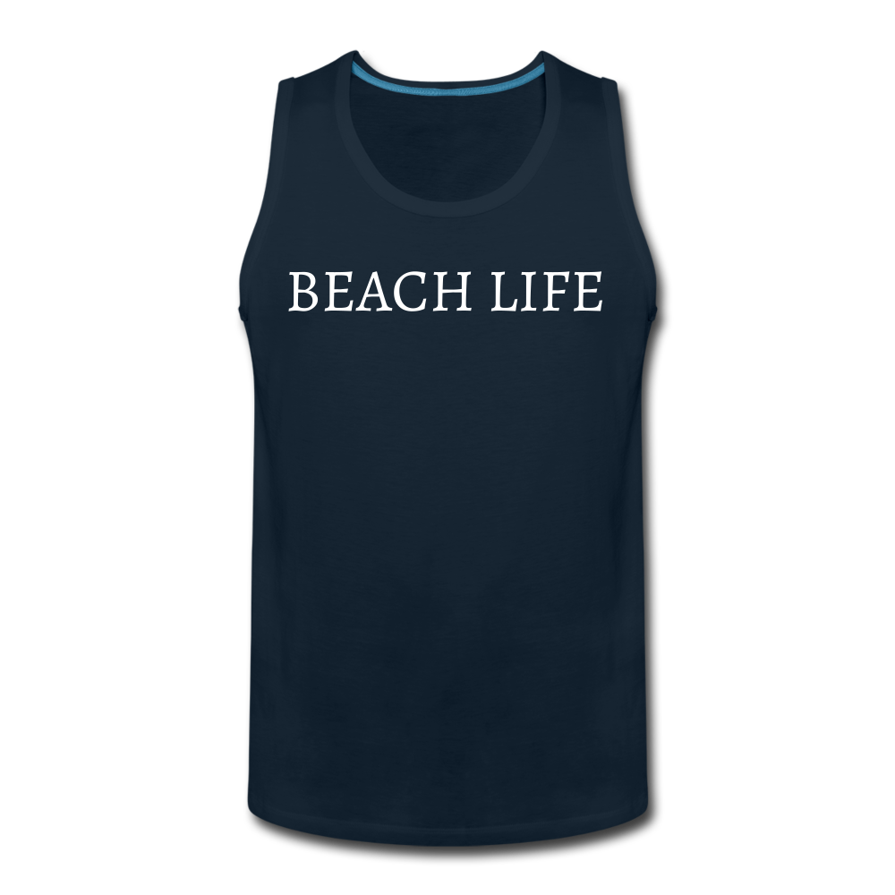 Beach Life-Make Waves 2-sided Men's Tank - deep navy