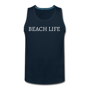 Open image in slideshow, Beach Life-Make Waves 2-sided Men's Tank - deep navy