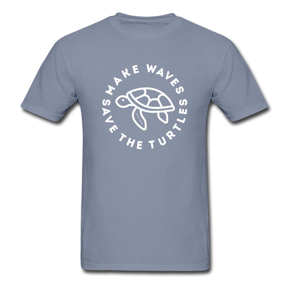 "The ""Kelsey"" Save the Turtles-Make Waves Unisex Adult T - blue"