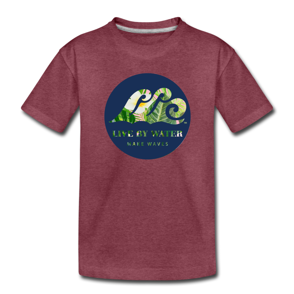 Tropical Classic Logo - Toddler T-Shirt - heather burgundy
