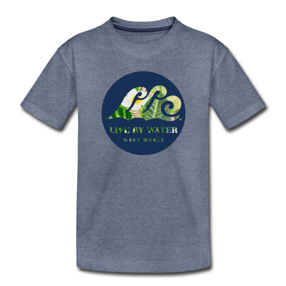 Tropical Classic Logo - Toddler T-Shirt - heather blue
