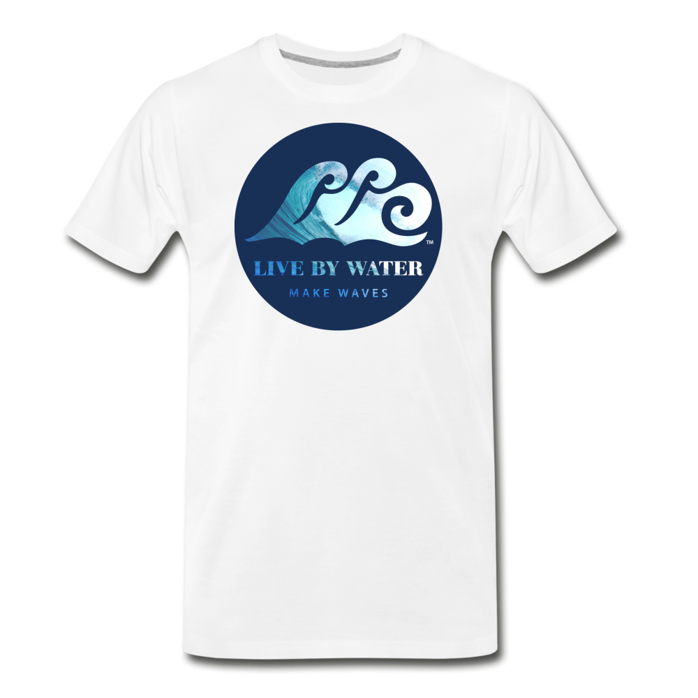 Catch a Wave-Men's 2-sided T - white