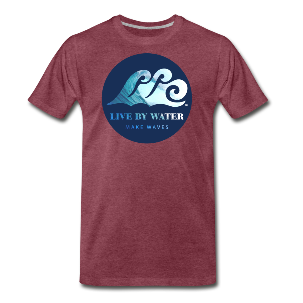 Catch a Wave-Men's 2-sided T - heather burgundy