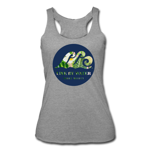 Tropical Classic Logo - Women's Racerback Tank - heather gray