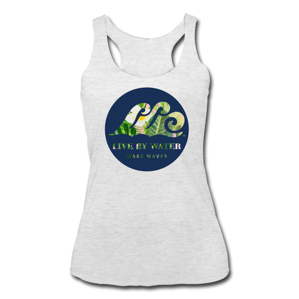Tropical Classic Logo - Women's Racerback Tank - heather white