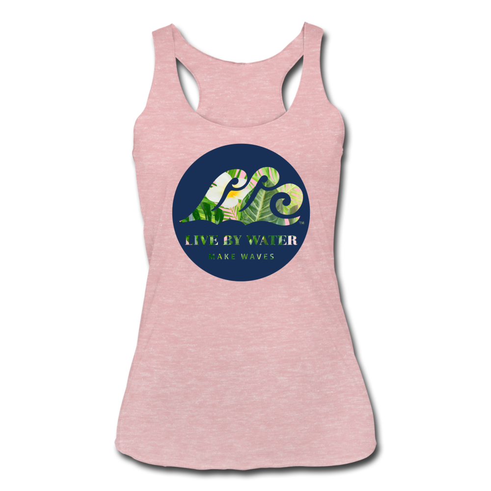 Tropical Classic Logo - Women's Racerback Tank - heather dusty rose