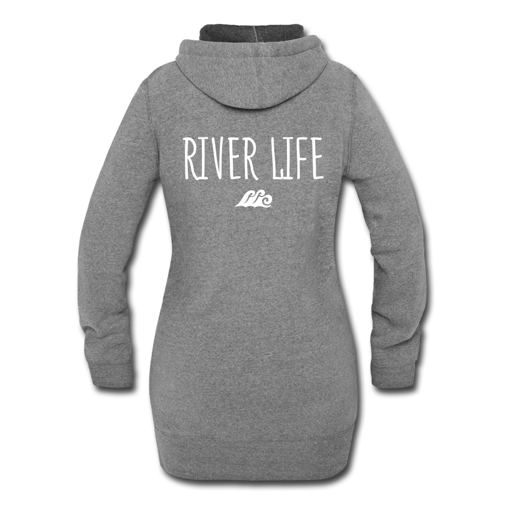 River Life-Women's Hoodie Dress - heather gray