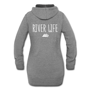 Open image in slideshow, River Life-Women's Hoodie Dress - heather gray