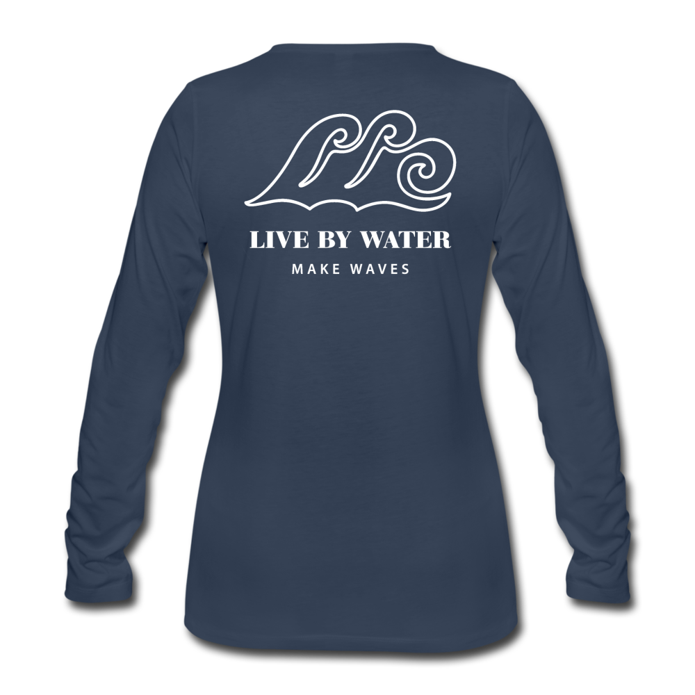 River Life-Women's Sleeve T - navy