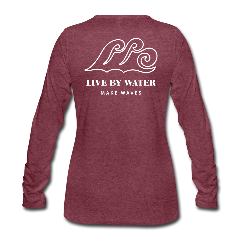 River Life-Women's Sleeve T - heather burgundy
