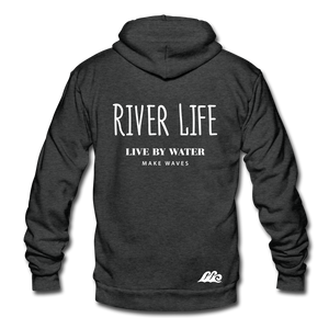 Open image in slideshow, River Life-Unisex Sip-up Hoodie - charcoal gray
