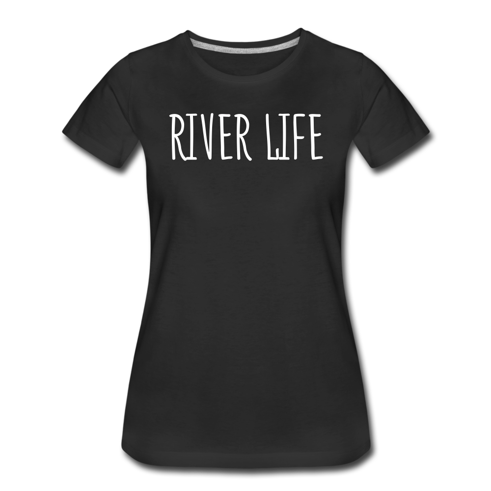 River Life-Women's 2-sided Crew Neck T - black