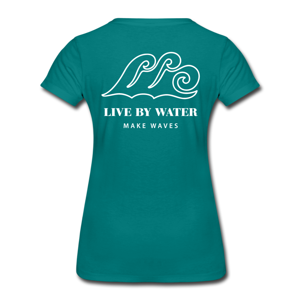 River Life-Women's 2-sided Crew Neck T - teal