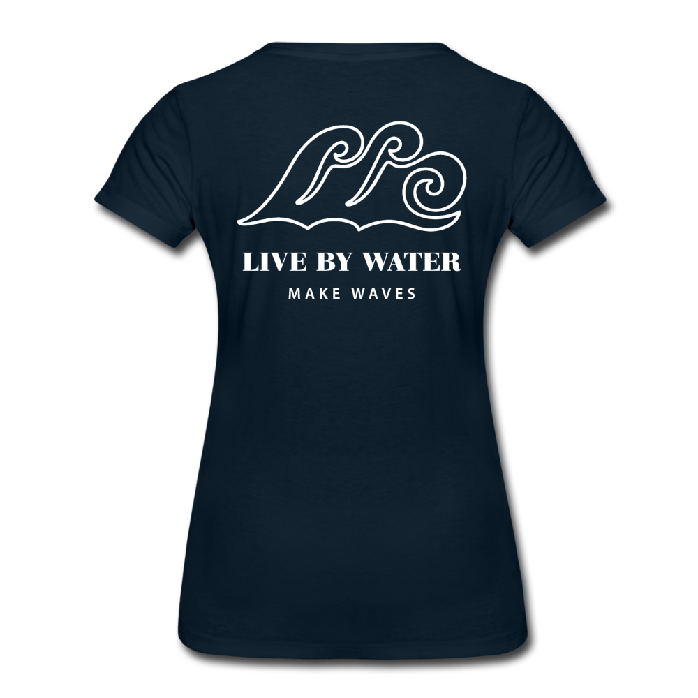 River Life-Women's 2-sided Crew Neck T - deep navy