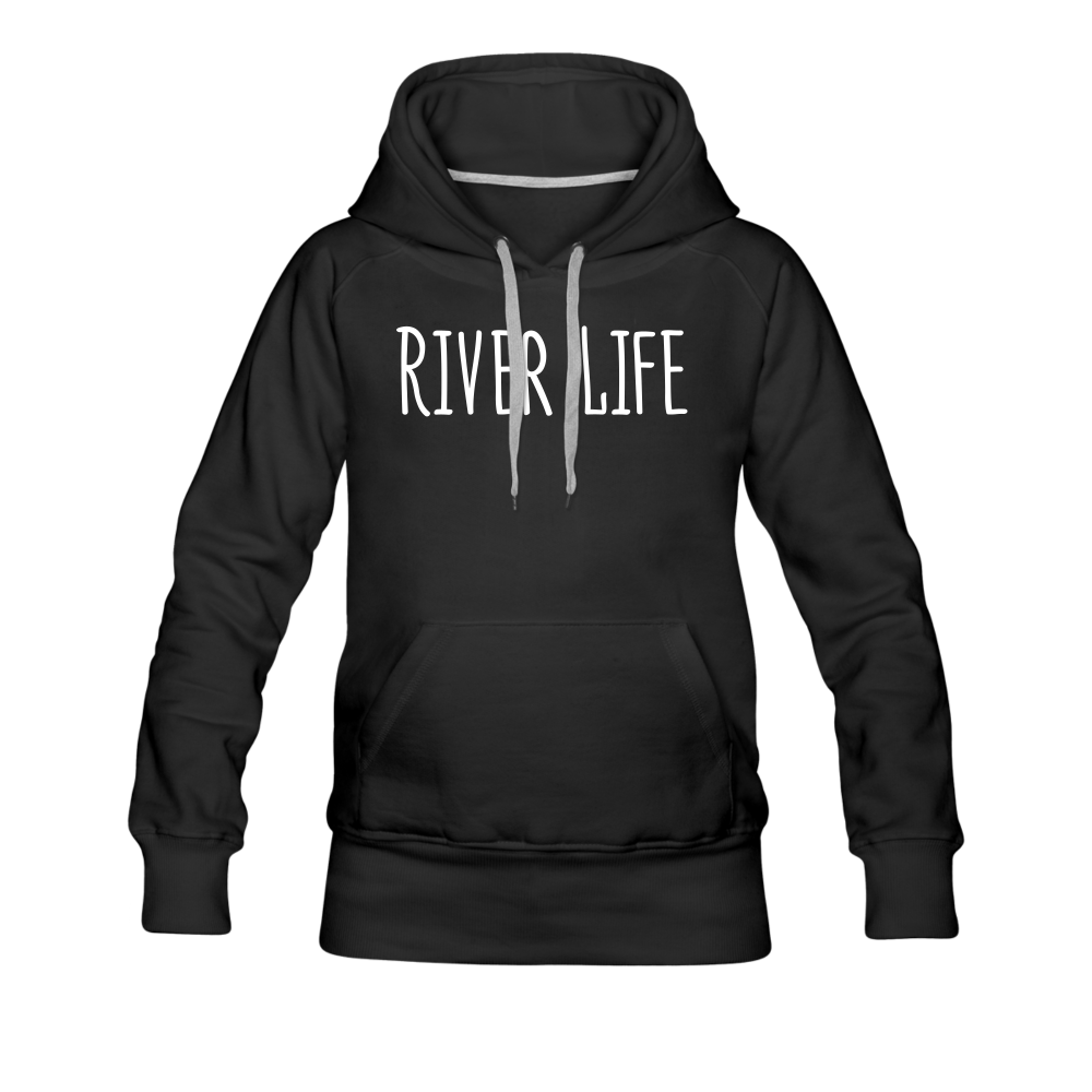 River Life-Women's 2-sided Hoodie - black