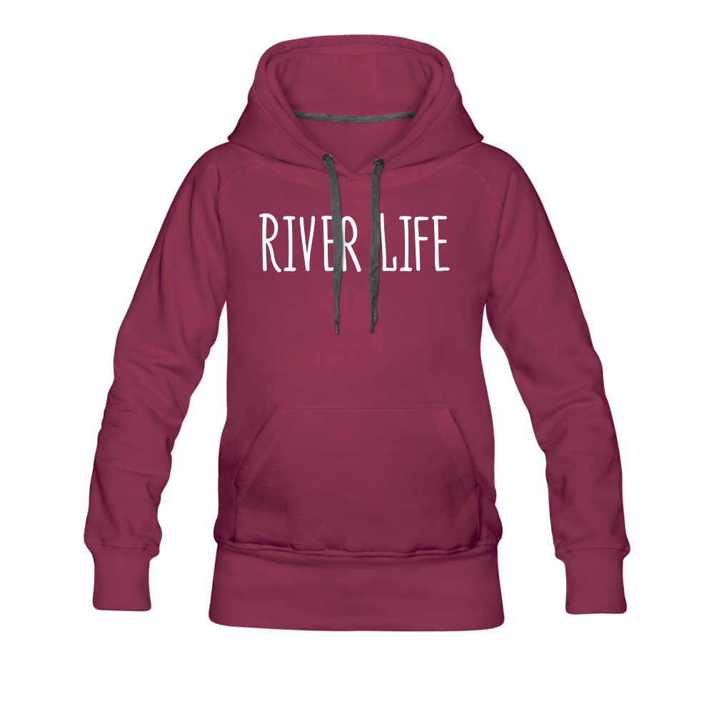 River Life-Women's 2-sided Hoodie - burgundy