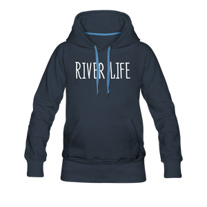 Open image in slideshow, River Life-Women's 2-sided Hoodie - navy