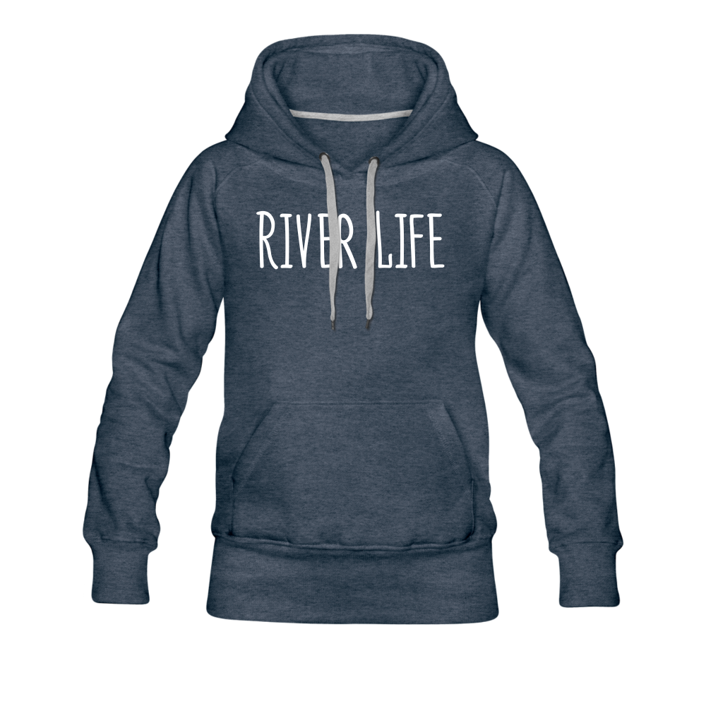 River Life-Women's 2-sided Hoodie - heather denim