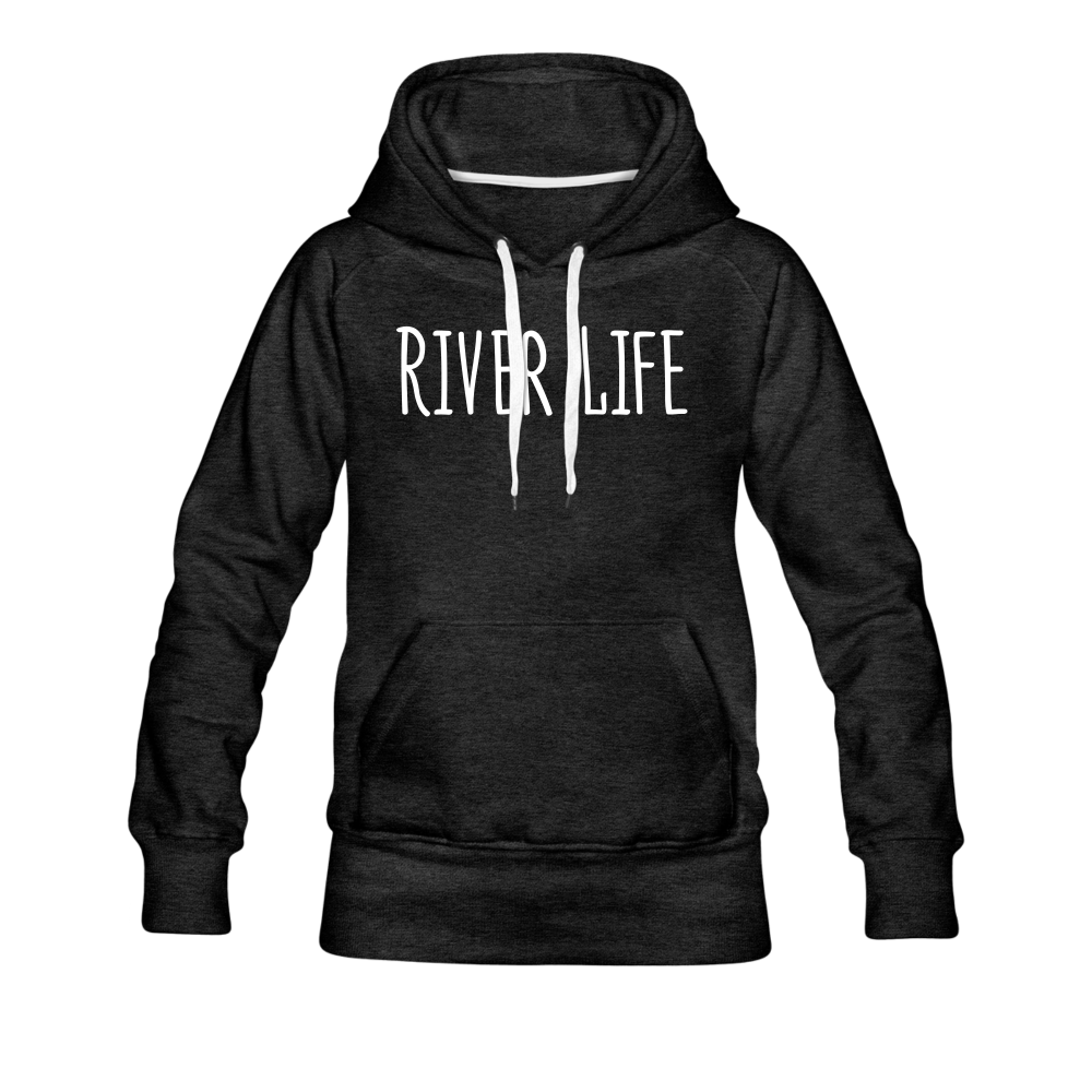River Life-Women's 2-sided Hoodie - charcoal gray