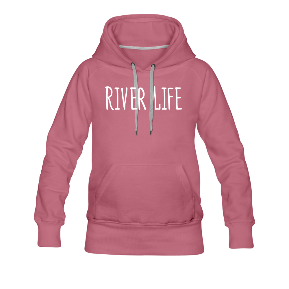 River Life-Women's 2-sided Hoodie - mauve