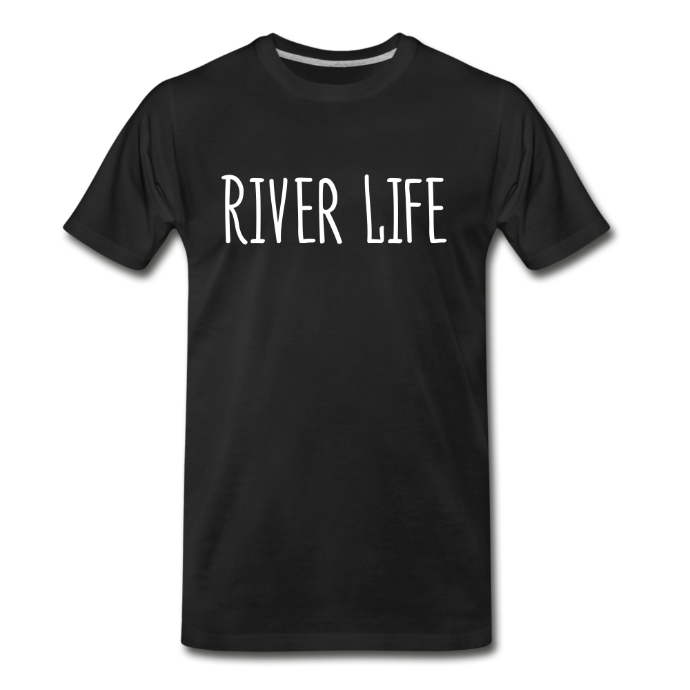 River Life-Men's T - black