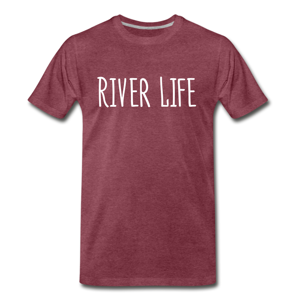 River Life-Men's T - heather burgundy