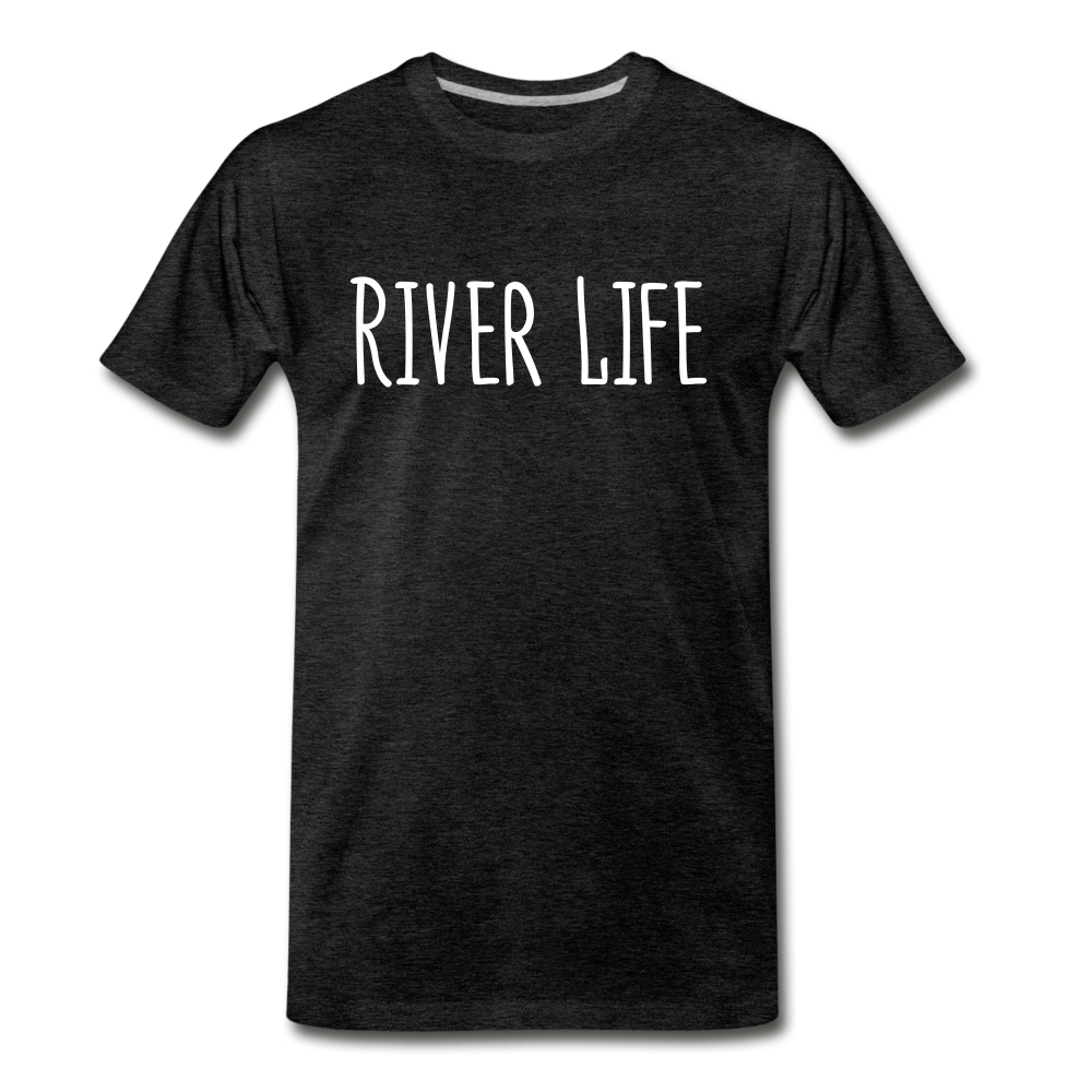 River Life-Men's T - charcoal gray