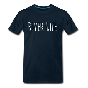 Open image in slideshow, River Life-Men's T - deep navy