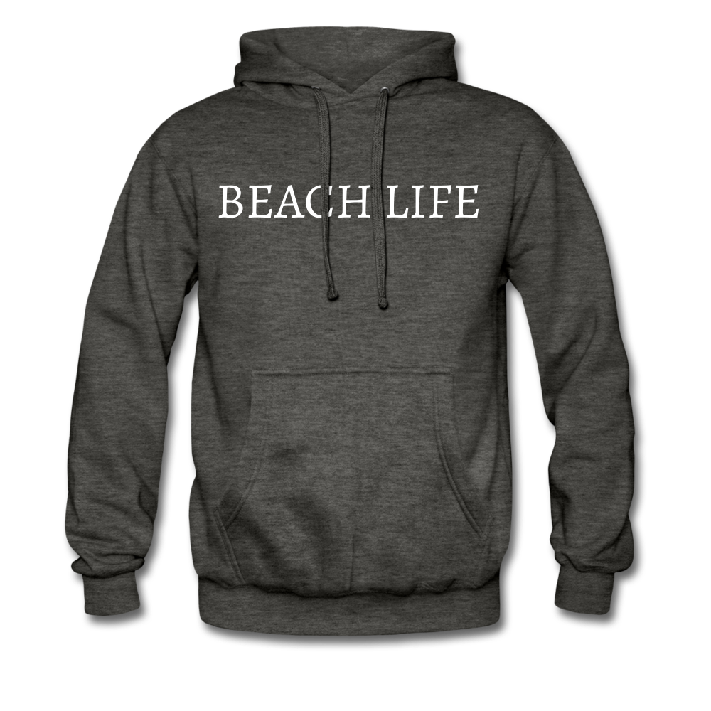 Beach Life-Make Waves 2-sided Men's Hoodie - charcoal