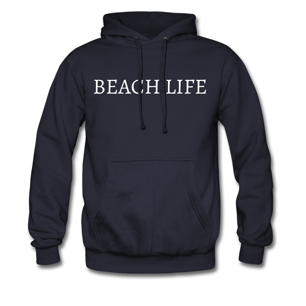 Beach Life-Make Waves 2-sided Men's Hoodie - navy