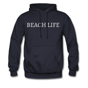 Open image in slideshow, Beach Life-Make Waves 2-sided Men's Hoodie - navy