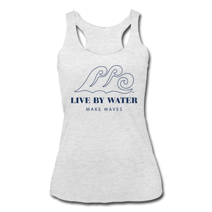 Classic Logo on Women's Racerback Tank - heather white