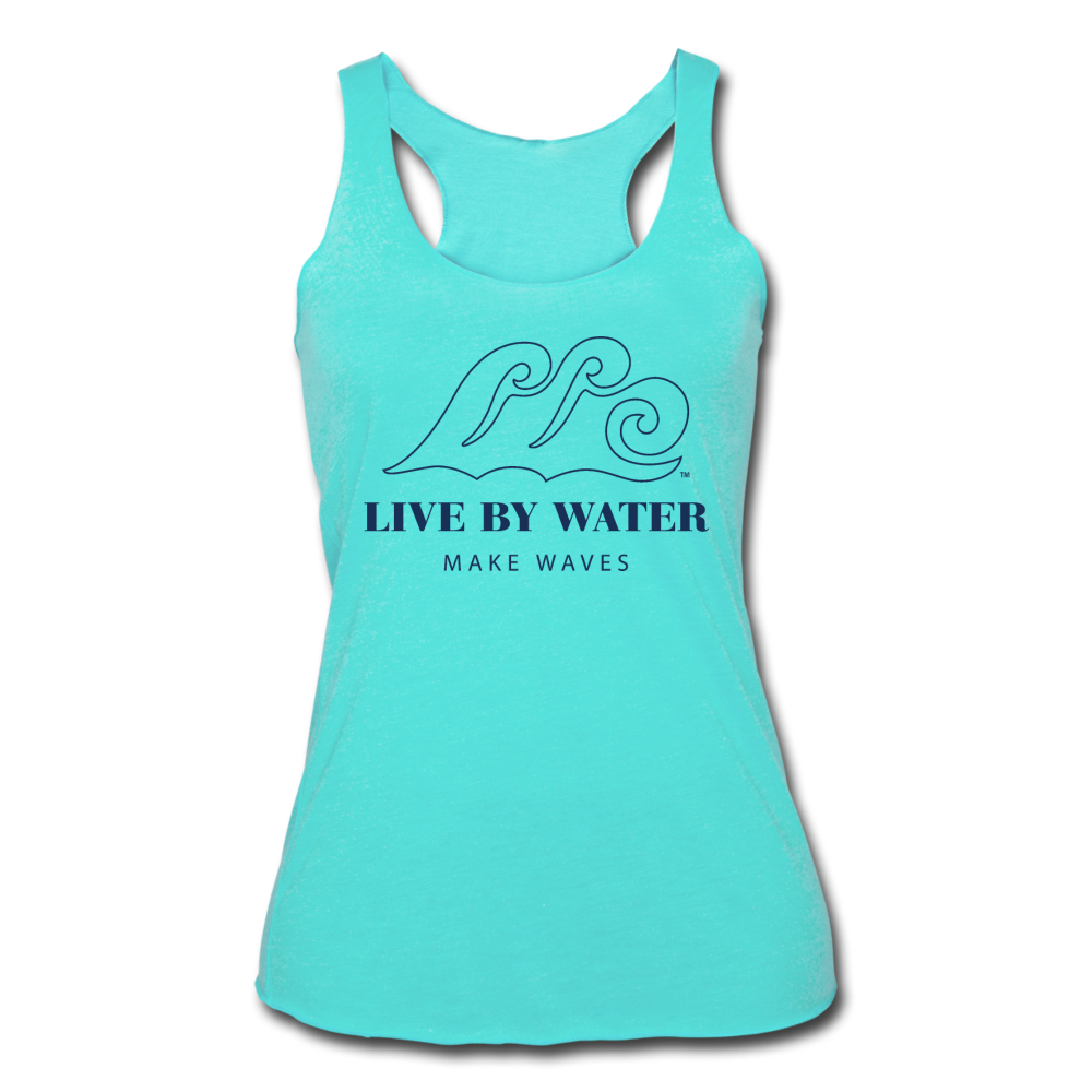 Classic Logo on Women's Racerback Tank - turquoise