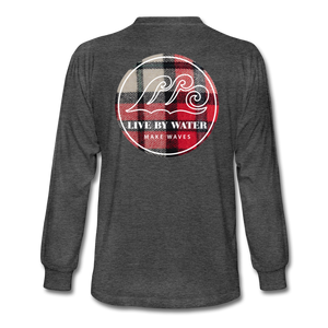 Red Flannel Classic Logo-Men's Long Sleeve T-Shirt - heather black