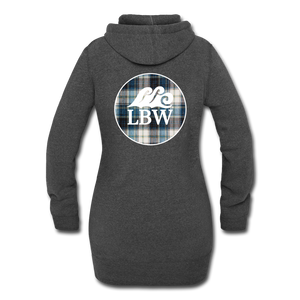 Open image in slideshow, Autumn's in the Air-Flannel LBW Logo-Women's Hoodie Dress - heather black