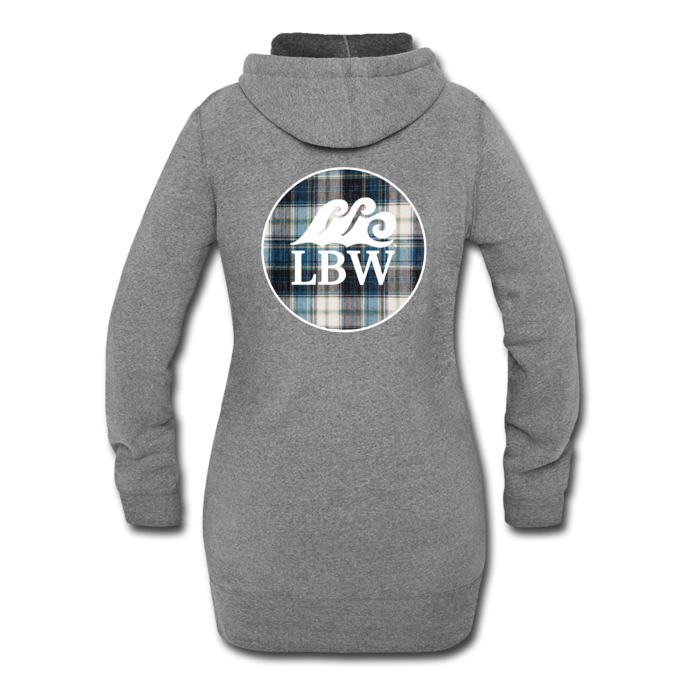 Autumn's in the Air-Flannel LBW Logo-Women's Hoodie Dress - heather gray