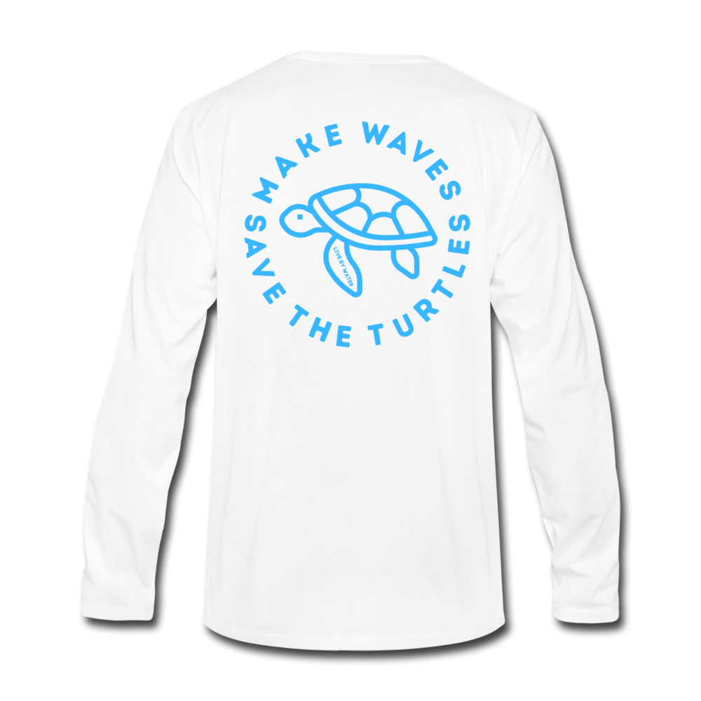 """The Kelsey"" Save the Turtle's-Men's Long Sleeve T - white"