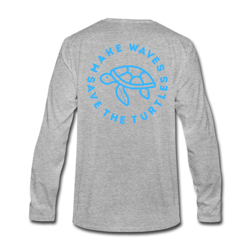 """The Kelsey"" Save the Turtle's-Men's Long Sleeve T - heather gray"