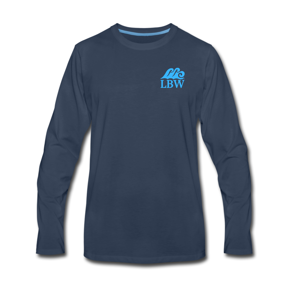 """The Kelsey"" Save the Turtle's-Men's Long Sleeve T - navy"
