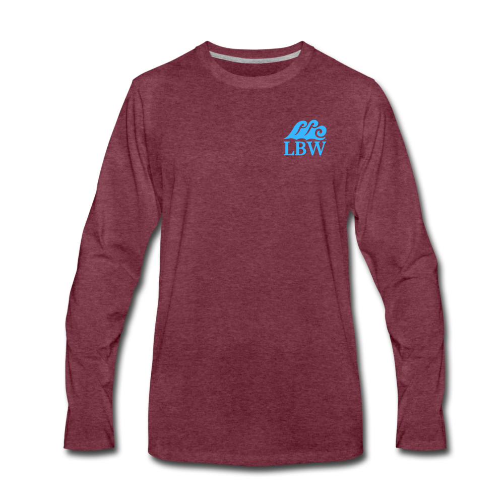 """The Kelsey"" Save the Turtle's-Men's Long Sleeve T - heather burgundy"