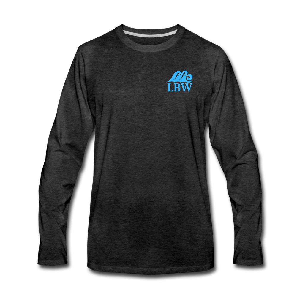 """The Kelsey"" Save the Turtle's-Men's Long Sleeve T - charcoal gray"