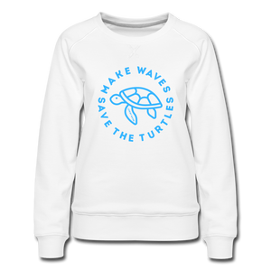 """The Kelsey"" Save the Turtles-Sweatshirt - white"