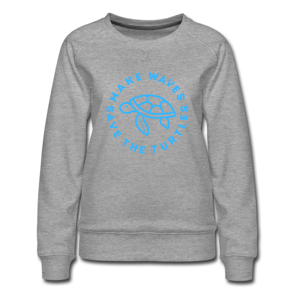 """The Kelsey"" Save the Turtles-Sweatshirt - heather gray"