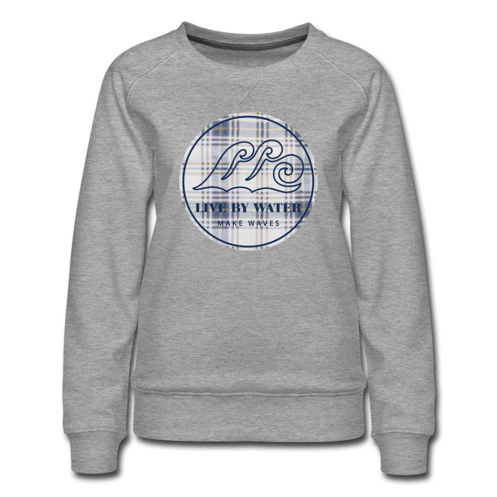 Vintage Blue Classic Logo-Women's Sweatshirt - heather gray