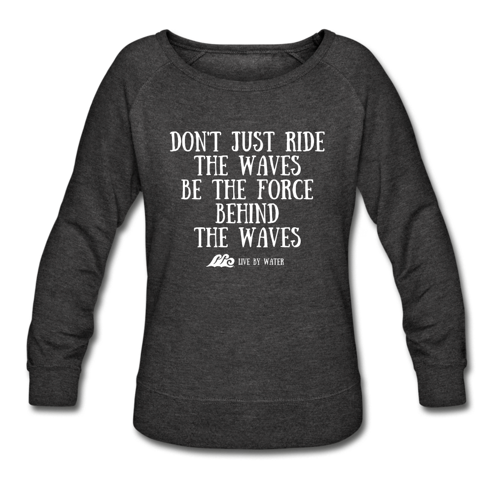 Be the Force - Women's Crewneck Sweatshirt - heather black