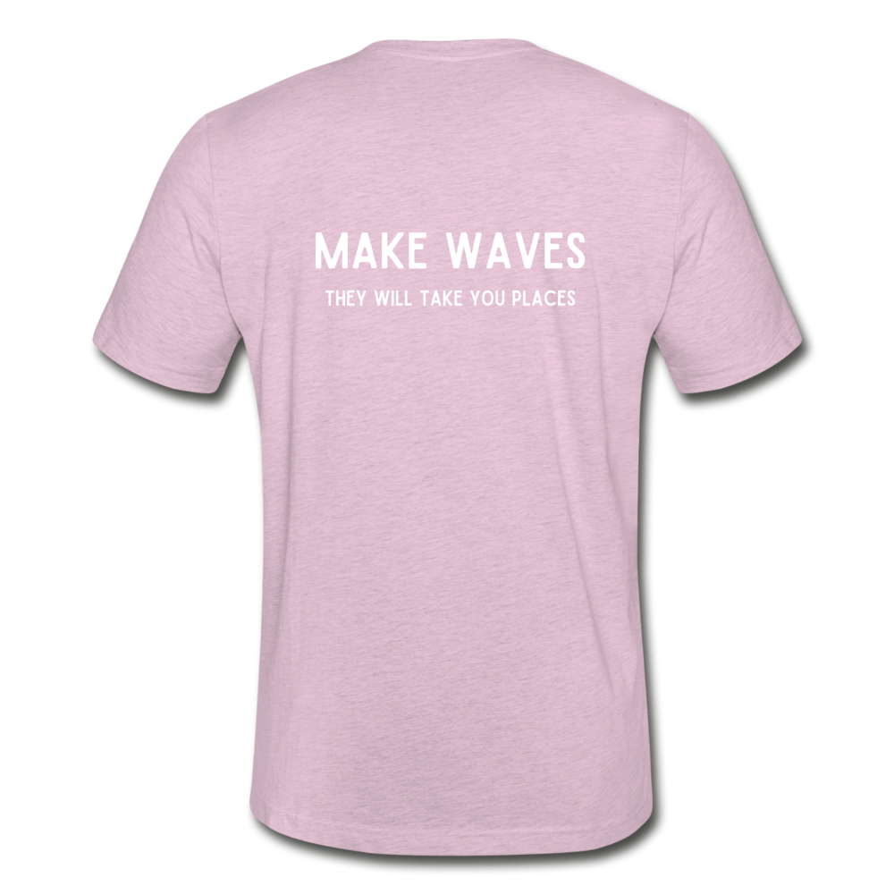 Make Waves they will take you places-Unisex T - heather prism lilac