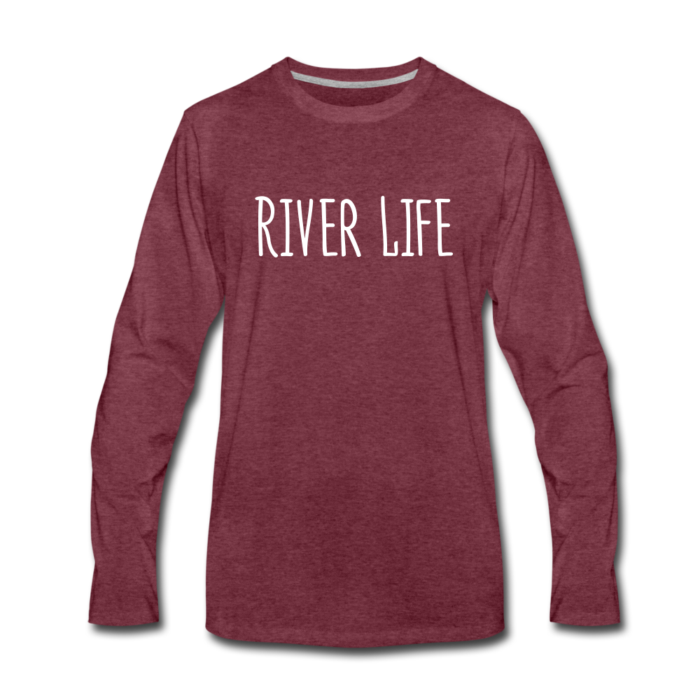 River Life-Men's 2-sided Long Sleeve T-Shirt - heather burgundy